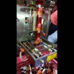Automatisk påfyldningsfunktion trekant tepose pakke maskine