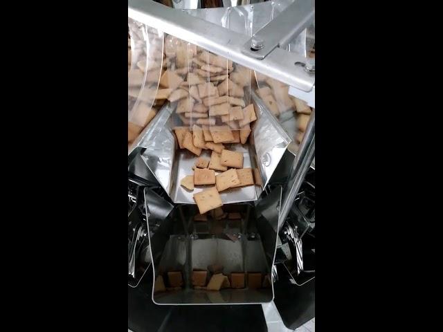 taske vertikal form fyldning 14 hoveder vejer og pakning 2 i 1 maskine til 5KG Stamtavle hvalpemad